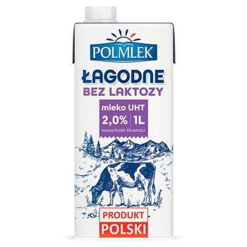 Polmlek Łagodne Mleko UHT bez laktozy 2% 1 l