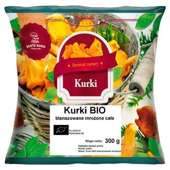 Złote Runo Premium Kurki bio blanszowane mrożone całe 300 g