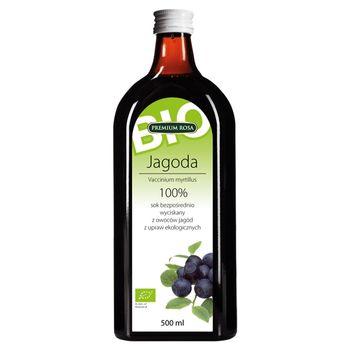 Premium Rosa Bio Sok bezpośrednio wyciskany z owoców jagód ekologicznych 500 ml
