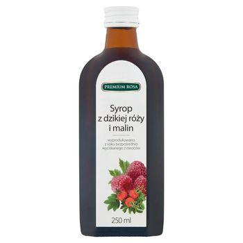 Premium Rosa Syrop z dzikiej róży i malin 250 ml