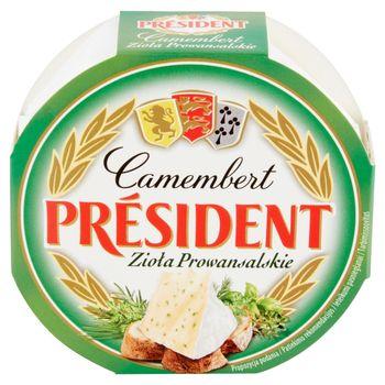 Président Camembert zioła prowansalskie Ser pełnotłusty 120 g