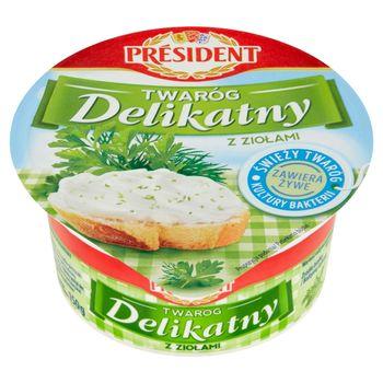 Président Twaróg Delikatny z ziołami 150 g