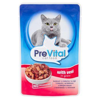 PreVital Karma dla kotów z cielęciną w sosie 100 g