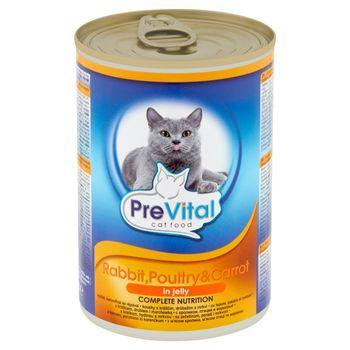 PreVital Karma dla kotów z królikiem drobiem i marchewką 415 g