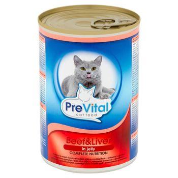 PreVital Karma dla kotów z wołowiną i wątróbką 415 g