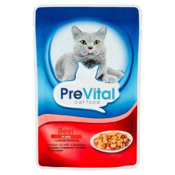 PreVital Karma dla kotów z wołowiną w galaretce 100 g