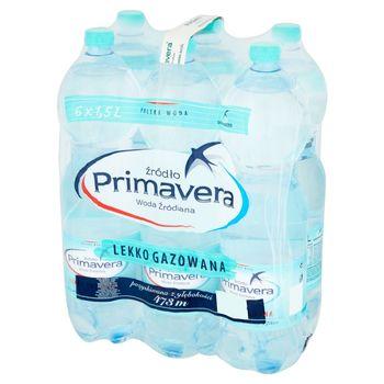 Primavera Woda źródlana lekko gazowana 6 x 1,5 l