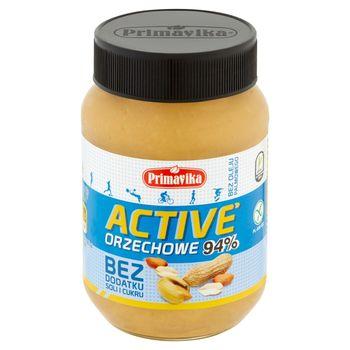 Primavika Active Pasta orzechowa bez dodatku soli i cukru 470 g