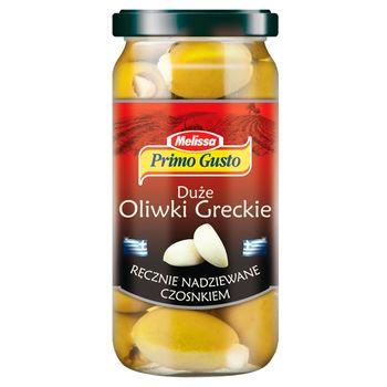 Primo Gusto Melissa Duże oliwki greckie ręcznie nadziewane czosnkiem 240 g