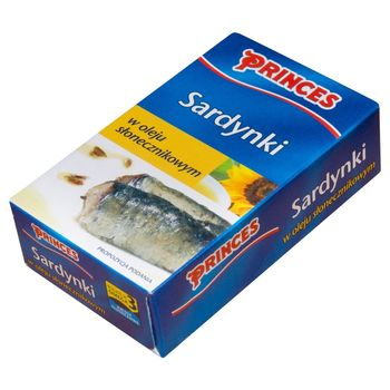 Princes Sardynki w oleju słonecznikowym 120 g