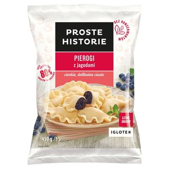 Proste Historie Pierogi z jagodami 450 g (15 sztuk)