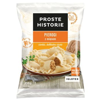 Proste Historie Pierogi z mięsem 450 g (15 sztuk)