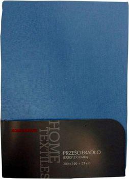 Prześcieradło MAR-POL Jersey gumka 200 Niebieski