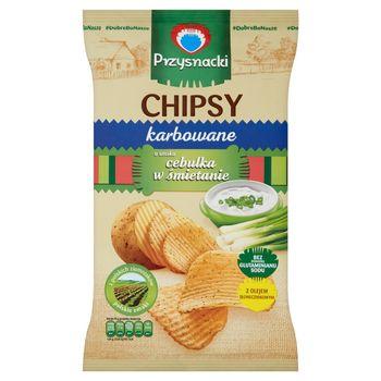 Przysnacki Chipsy karbowane o smaku cebulka w śmietanie 135 g