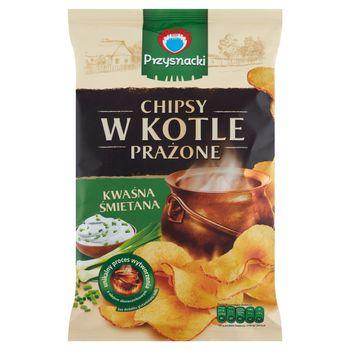 Przysnacki Chipsy w kotle prażone kwaśna śmietana 125 g