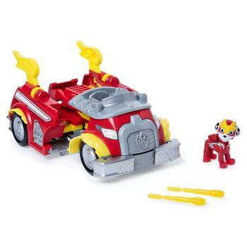 Psi Patrol - Pojazd transformujący z wyrzutnią + figurka Kosmopiesek Marshall