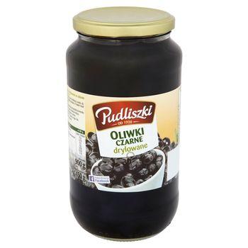 Pudliszki Oliwki czarne drylowane 900 g