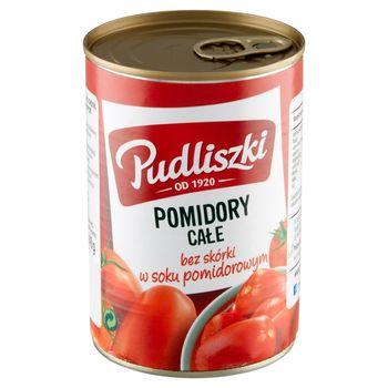 Pudliszki Pomidory całe bez skórki w soku pomidorowym 400 g