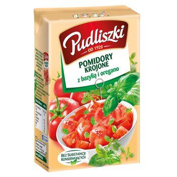 Pudliszki Pomidory krojone z bazylią i oregano 390 g
