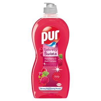 Pur Sekrety Świata Raspberry & Red Currant Płyn do mycia naczyń 450 ml
