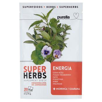 Purella Superfoods Superherbs Suplement diety energia 35 g (20 x 1,75 g)