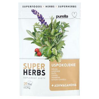 Purella Superfoods Suplement diety Superherbs uspokojenie 35 g (20 x 1,75 g)