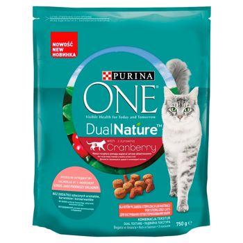 PURINA ONE DualNature Pełnoporcjowa karma dla dorosłych kotów z żurawiną 750 g
