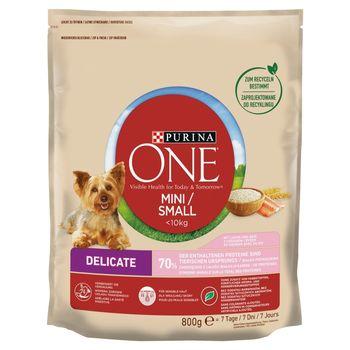 PURINA ONE Mini/Small Delicate Karma dla psów z łososiem i ryżem 800 g