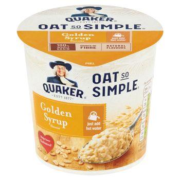 Quaker Oat So Simple Golden Syrup Mieszanka do przygotowania owsianki 57 g