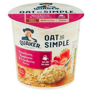 Quaker Oat So Simple Mieszanka do przygotowania owsianki o smaku truskawka malina żurawina 57 g