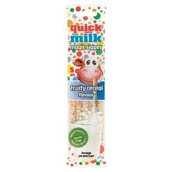 Quick Milk Magic Sipper Słomki smakowe do mleka o smaku owoców i płatków zbożowych 30 g (5 x 6 g)