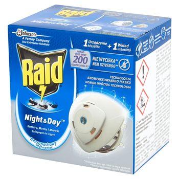 Raid Night & Day Komary muchy i mrówki Elektrofumigator owadobójczy Urządzenie i wkład