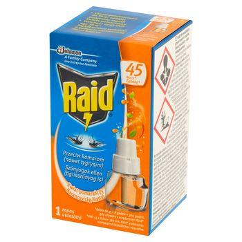 Raid Płyn owadobójczy przeciw komarom zapas o zapachu kwiatu pomarańczy 27 ml