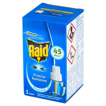 Raid Płyn owadobójczy przeciw komarom zapas bezzapachowy 27 ml
