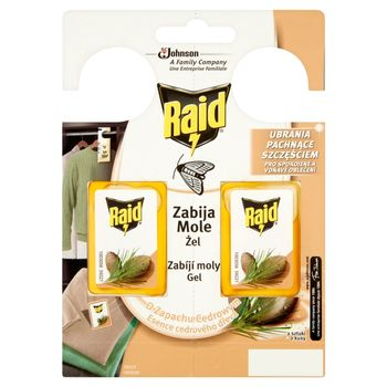 Raid Zawieszki przeciw molom w żelu o zapachu cedrowym 2 x 3 g