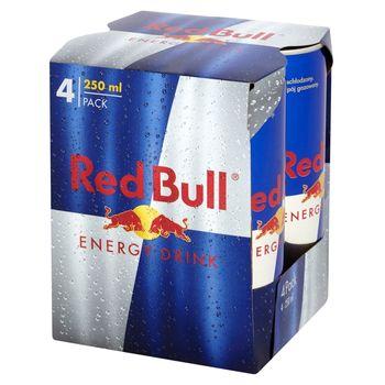 Red Bull Napój energetyczny 4 x 250 ml