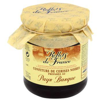 Reflets de France Konfitura z czarnych wiśni wytworzona w Pays Basque 230 g