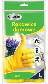 Rękawice wielokrotnego użytku GROSIK Domowe Rozmiar  L