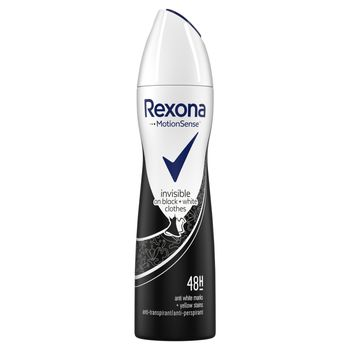 Rexona Invisible Black+White Antyperspirant w aerozolu dla kobiet 150 ml