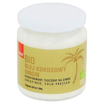 Rish Bio olej kokosowy virgin niefiltrowany tłoczony na zimno 200 ml