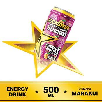 Rockstar Juiced Passion Frutas Gazowany napój energetyzujący 500 ml