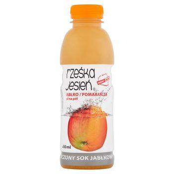 Rześka Jesień Tłoczony sok jabłko-pomarańcza 500 ml