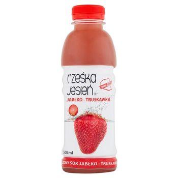 Rześka Jesień Tłoczony sok jabłko-truskawka 500 ml