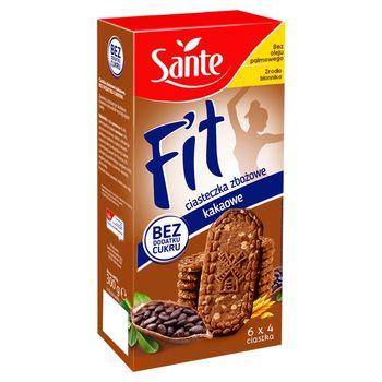 Sante Fit Ciasteczka zbożowe kakaowe 300 g (6 x 50 g)