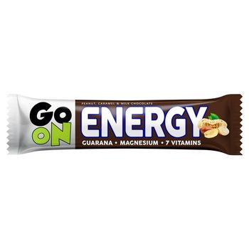 Sante Go On Energy Baton z orzeszkami arachidowymi i karmelem oblany mleczną czekoladą 50 g