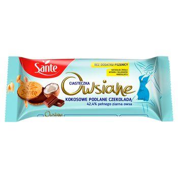 Sante Ciasteczka owsiane kokosowe podlane czekoladą 170 g