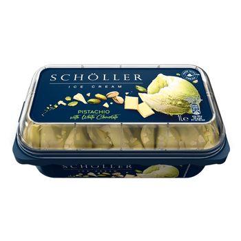 Schöller Lody pistacjowe i lody z białą czekoladą z wiórkami z białej czekolady 1 l