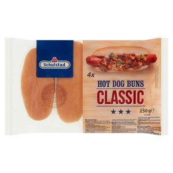 Schulstad Bułki pszenne do hot-dogów klasyczne 250 g (4 x 62,5 g)