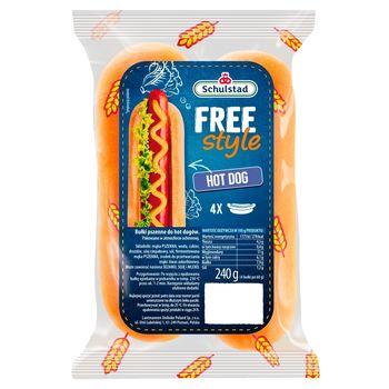 Schulstad Free Style Bułki pszenne do hot dogów 240 g (4 x 60 g)