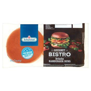 Schulstad Gourmet Bistro Bułki pszenne do hamburgerów 324 g (4 x 81 g)